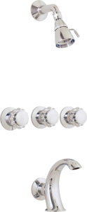 Three Valve Tub and Shower Set 4903